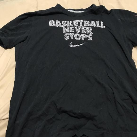 Nike Shirts Basketball Never Stops Tee Poshmark